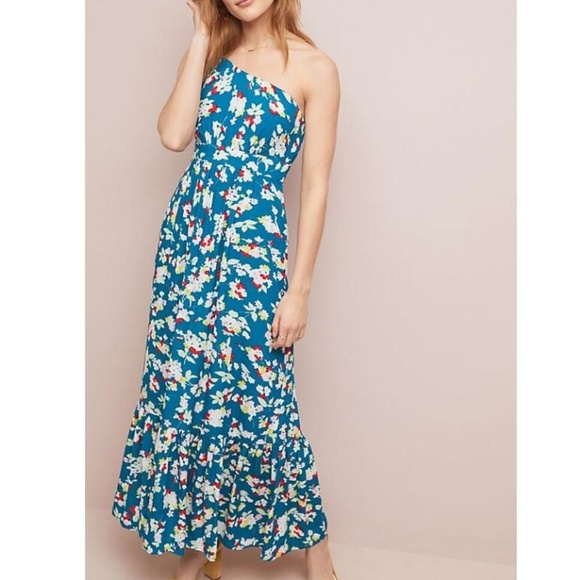 Anthropologie Dresses & Skirts - Anthropologie Bouquet One-Shoulder Maxi Dress